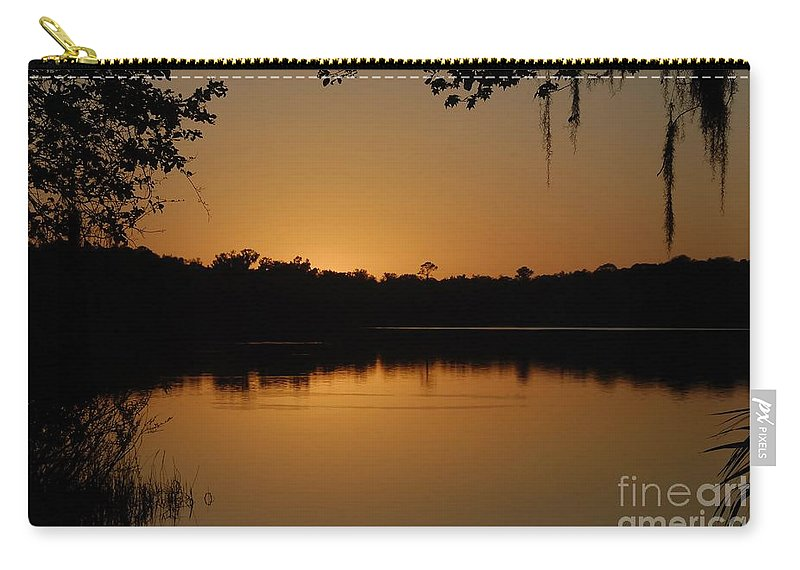 Lake Carry-all Pouch featuring the photograph Lake Reflections by David Lee Thompson