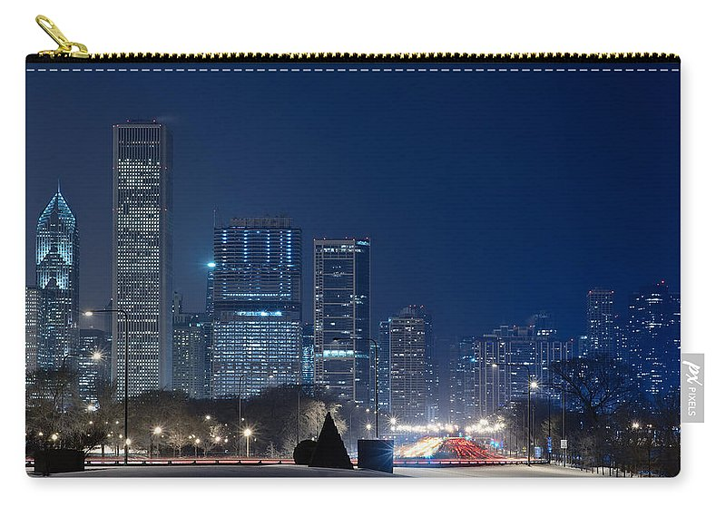 Building Carry-all Pouch featuring the photograph Lake Shore Drive Chicago by Steve Gadomski