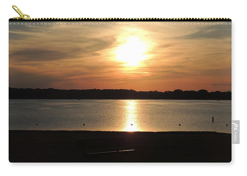Sunset Carry-all Pouch featuring the photograph Lake Sunset-midrange by Cindy Freeman