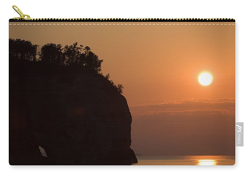 Lake Carry-all Pouch featuring the photograph Lake Superior Sunset by Sebastian Musial