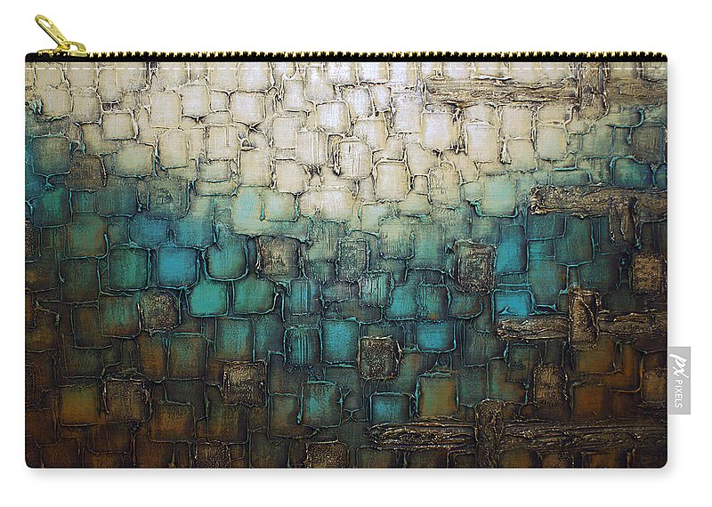 Blue Carry-all Pouch featuring the painting Lake by Susanna Shap