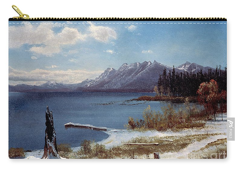Tahoe Carry-all Pouch featuring the painting Lake Tahoe by Albert Bierstadt