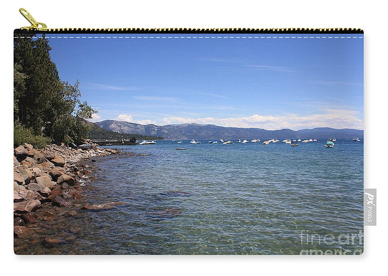 Lake Tahoe Carry-all Pouch featuring the photograph Lake Tahoe Waterscape by Carol Groenen