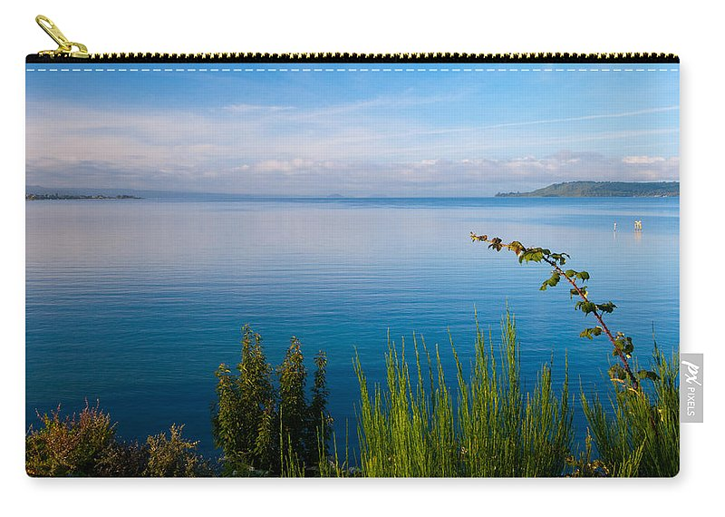Beautiful Carry-all Pouch featuring the photograph Lake Taupo by Marc Garrido