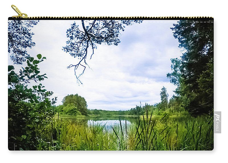 Nature Carry-all Pouch featuring the photograph Lake View by Nicklas Gustafsson