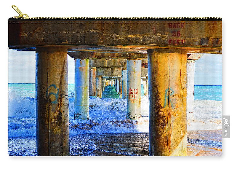 Lake Worth Carry-all Pouch featuring the photograph Lake Worth, Florida Pier by Paul Cook
