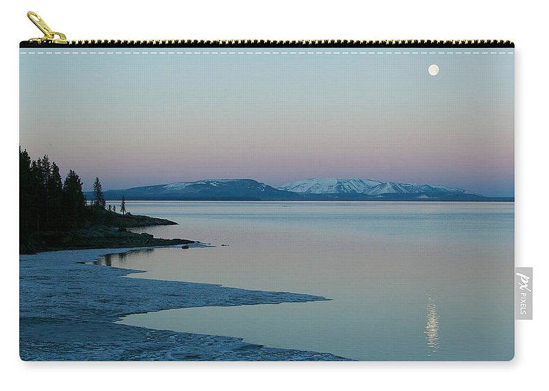 Clearing Carry-all Pouch featuring the photograph Lake Yellowstone by FL collection
