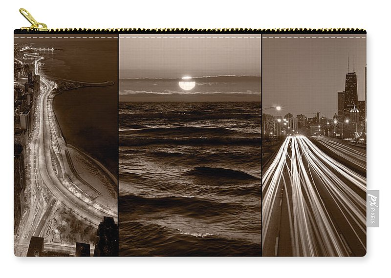 Chicago Carry-all Pouch featuring the photograph Lakeshore Chicago by Steve Gadomski