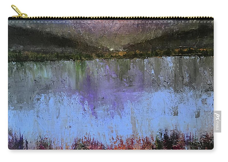John Cammarano Carry-all Pouch featuring the painting Lakeside by John Cammarano