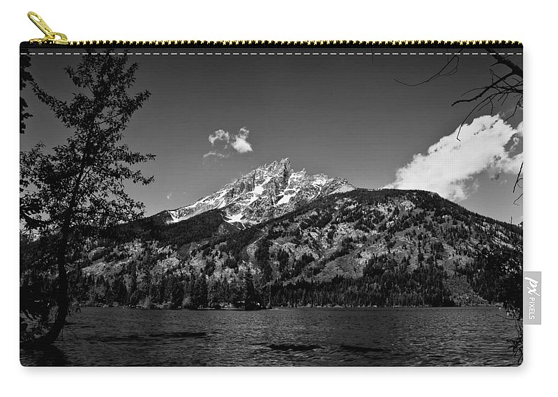Black And White Carry-all Pouch featuring the photograph Lakeside by John K Sampson