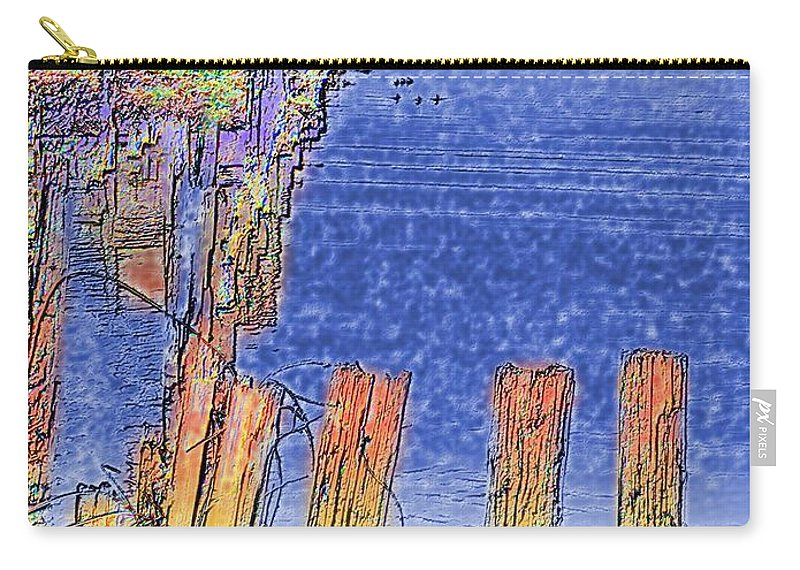 Seattle Carry-all Pouch featuring the photograph Lakeside Pilings by Tim Allen