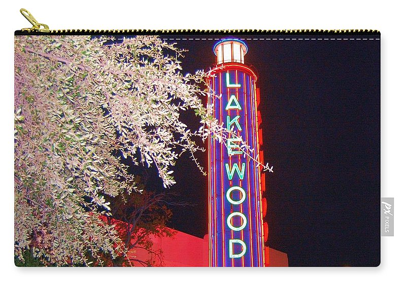 Theater Carry-all Pouch featuring the photograph Lakewood Theater by Debbi Granruth