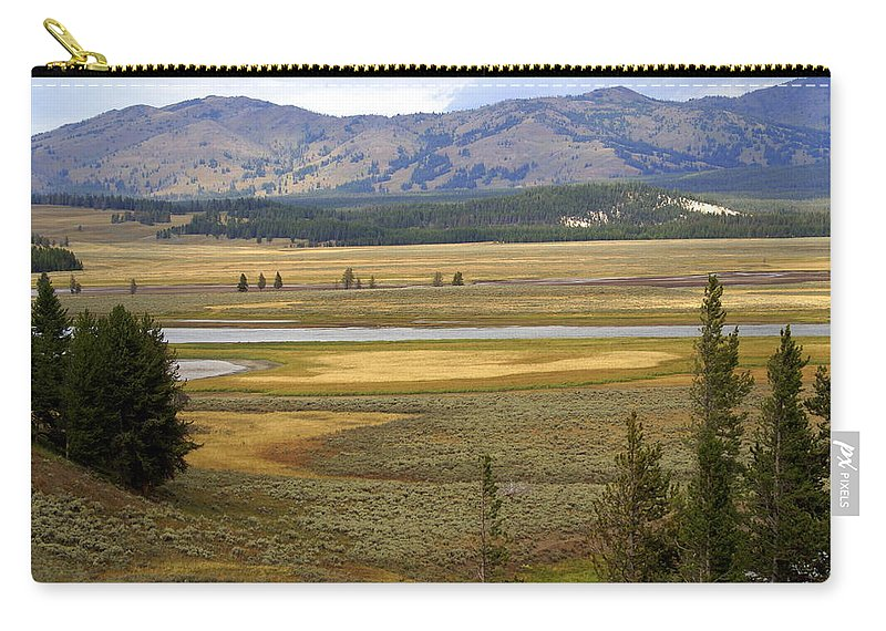 Yellowstone National Park Carry-all Pouch featuring the photograph Lamar Valley 1 by Marty Koch