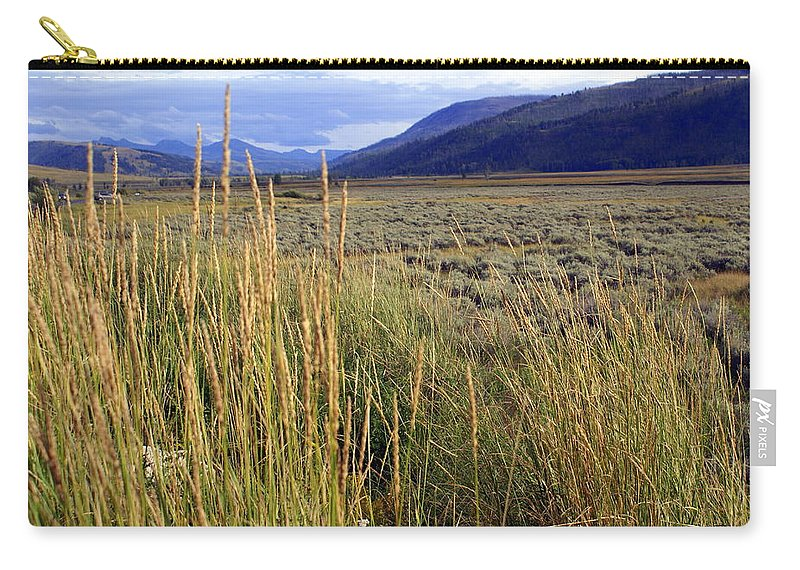 Yellowstone National Park Carry-all Pouch featuring the photograph Lamar Valley 2 by Marty Koch