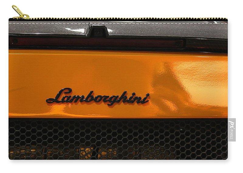 Lamborghini Carry-all Pouch featuring the photograph Lamborghini by Amy Stark