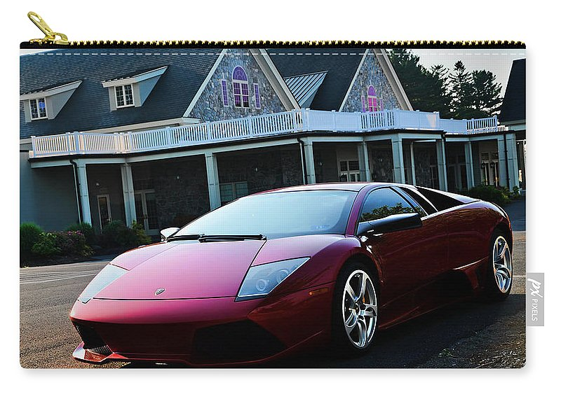 Lamborghini Carry-all Pouch featuring the photograph Lamborghini by Jackie Russo