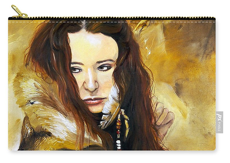 Southwest Art Carry-all Pouch featuring the painting Lament by J W Baker