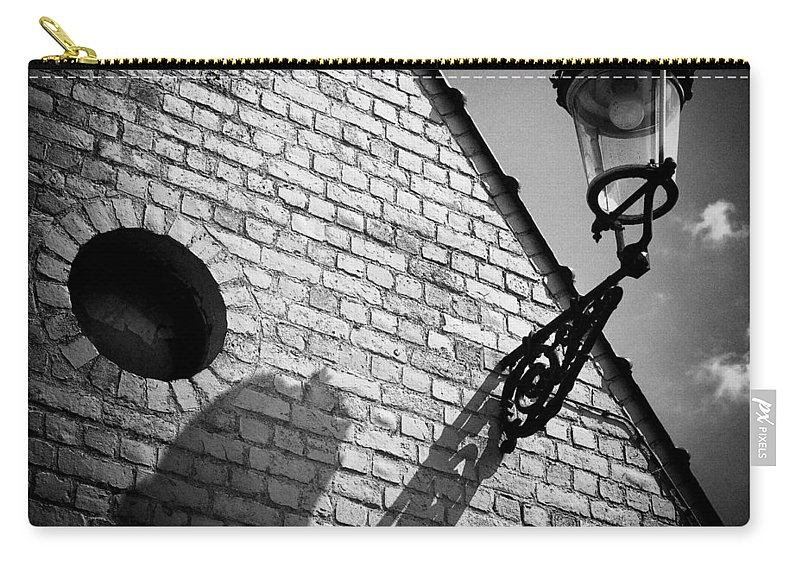 Lamp Carry-all Pouch featuring the photograph Lamp With Shadow by Dave Bowman