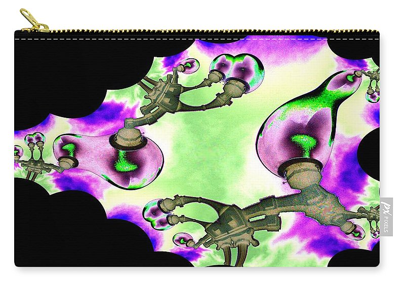 Lamps Carry-all Pouch featuring the digital art Lamps by Tim Allen