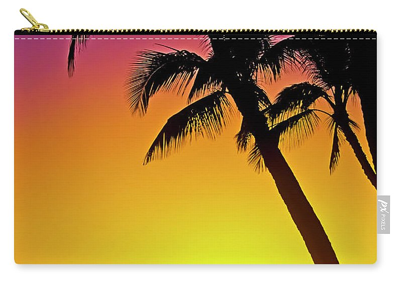 Sunset Carry-all Pouch featuring the photograph Lanai Sunset II Maui Hawaii by Jim Cazel