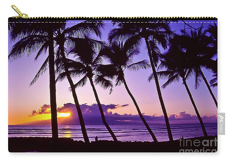 Landscapes Carry-all Pouch featuring the photograph Lanai Sunset by Jim Cazel