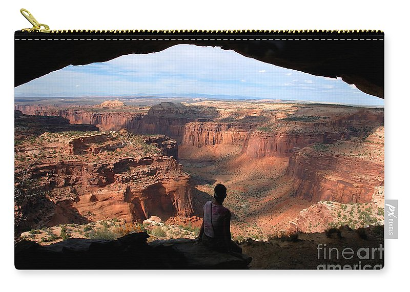 Canyon Lands National Park Utah Carry-all Pouch featuring the photograph Land Of Canyons by David Lee Thompson