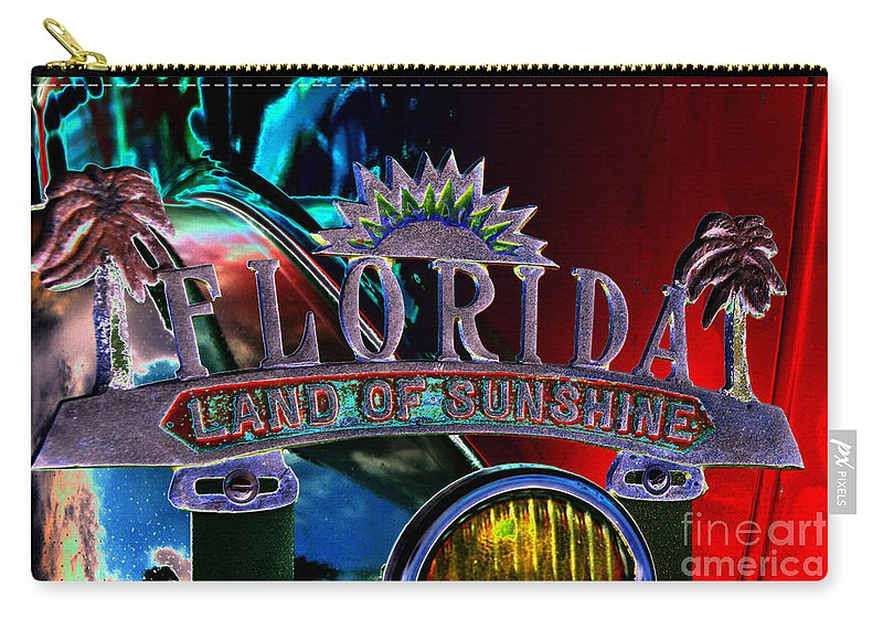 Art Carry-all Pouch featuring the painting Land Of Sunshine by David Lee Thompson