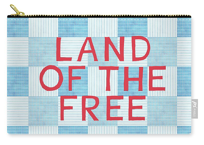 Land Of The Free Carry-all Pouch featuring the painting Land Of The Free by Linda Woods