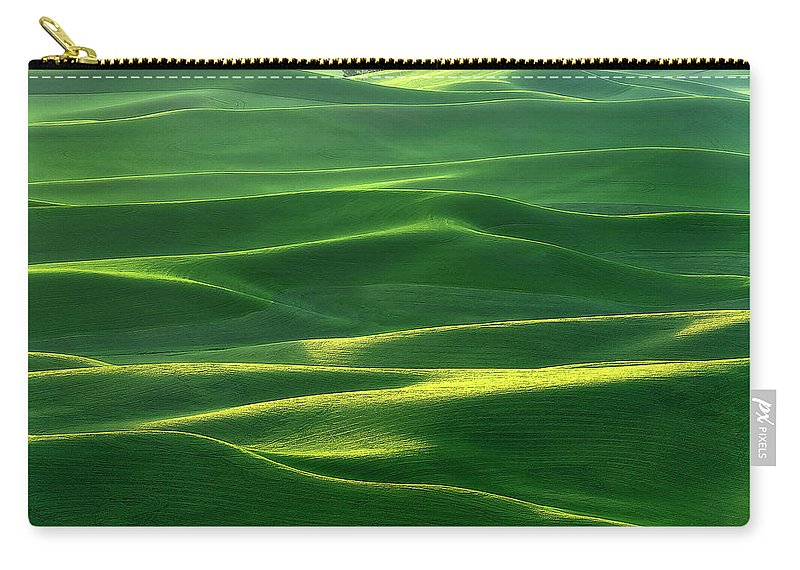 Palouse Carry-all Pouch featuring the photograph Land Waves by Ryan Manuel