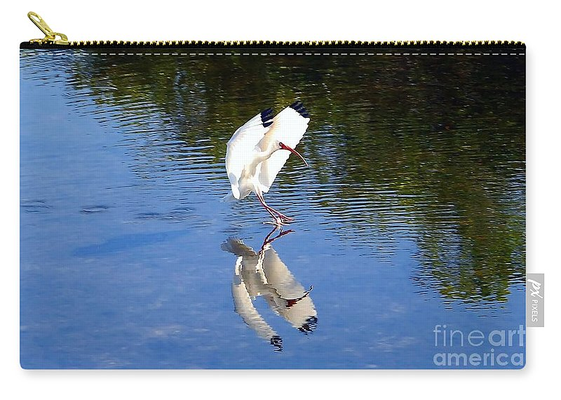 Landing Carry-all Pouch featuring the photograph Landing by David Lee Thompson