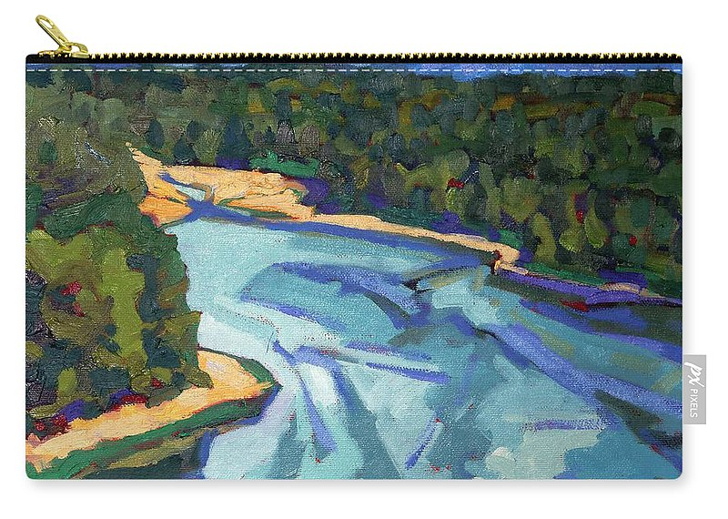 Landon Carry-all Pouch featuring the painting Landon Bay by Phil Chadwick