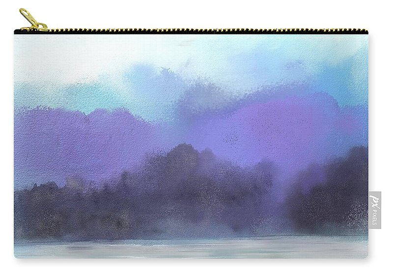 Digital Painting Carry-all Pouch featuring the digital art Landscape 02-19-10 by David Lane