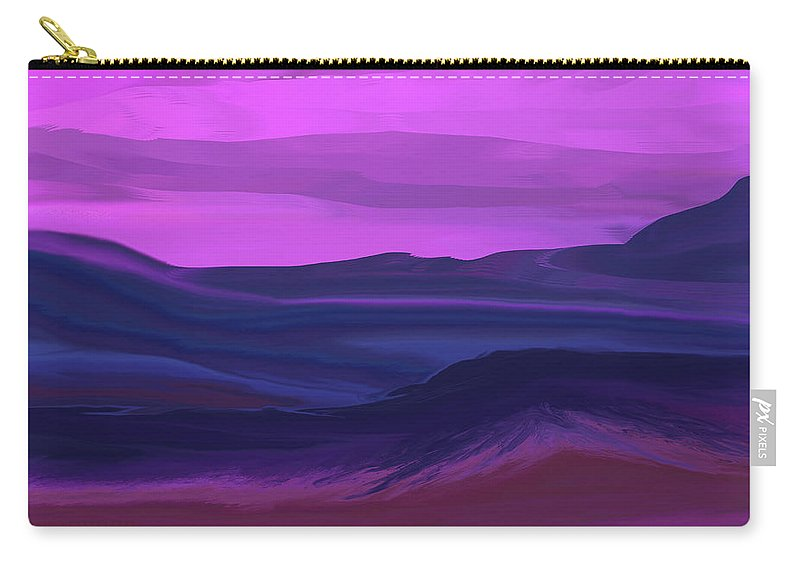 Fine Art Carry-all Pouch featuring the digital art Landscape 022011 by David Lane