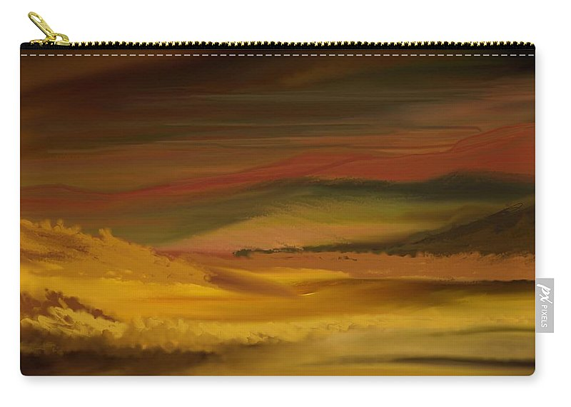 Fine Art Carry-all Pouch featuring the digital art Landscape 022111 by David Lane