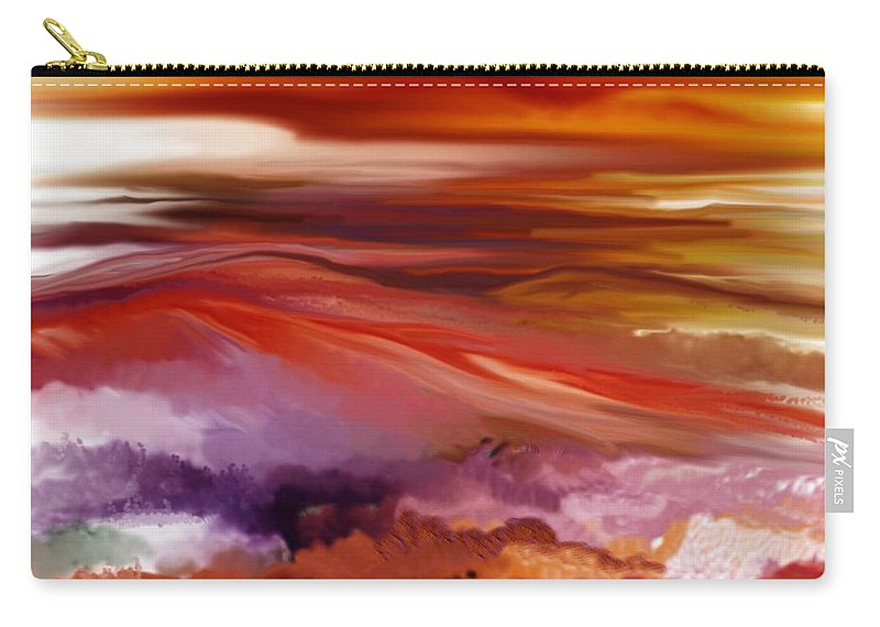 Landscape Carry-all Pouch featuring the digital art Landscape 022511 by David Lane