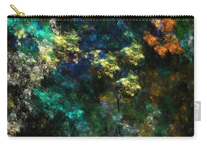 Abstract Digital Painting Carry-all Pouch featuring the digital art Landscape 10-10-09 by David Lane