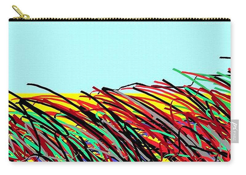 Landscape 456 Carry-all Pouch featuring the digital art Landscape 456 by Eliso Silva