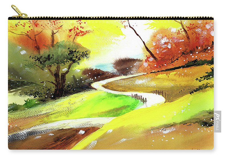 Nature Carry-all Pouch featuring the painting Landscape 6 by Anil Nene