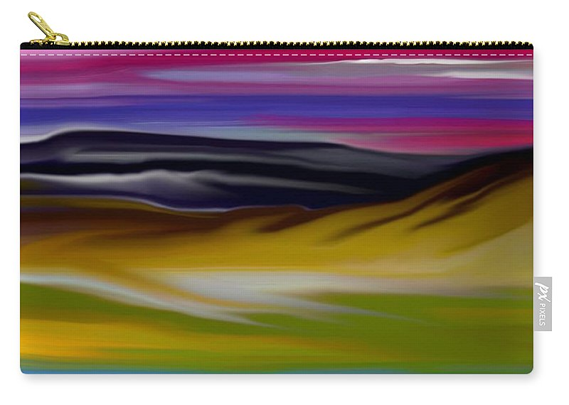 Digital Fantasy Painting Carry-all Pouch featuring the digital art Landscape 7-11-09 by David Lane
