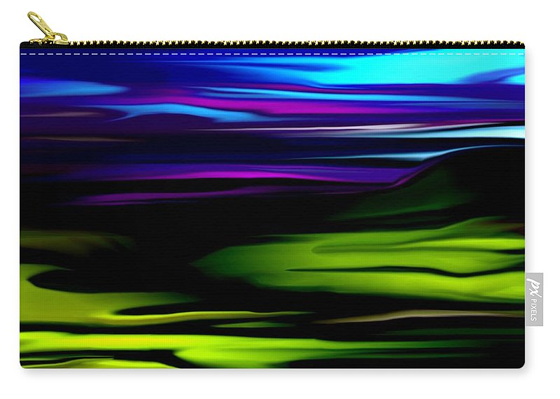 Abstract Expressionism Carry-all Pouch featuring the digital art Landscape 8-05-09 by David Lane