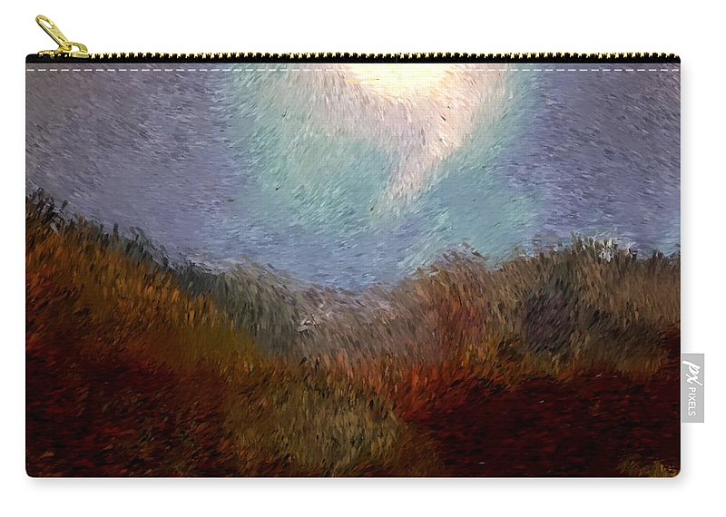 Abstract Digital Painting Carry-all Pouch featuring the digital art Landscape 8-27-09 by David Lane