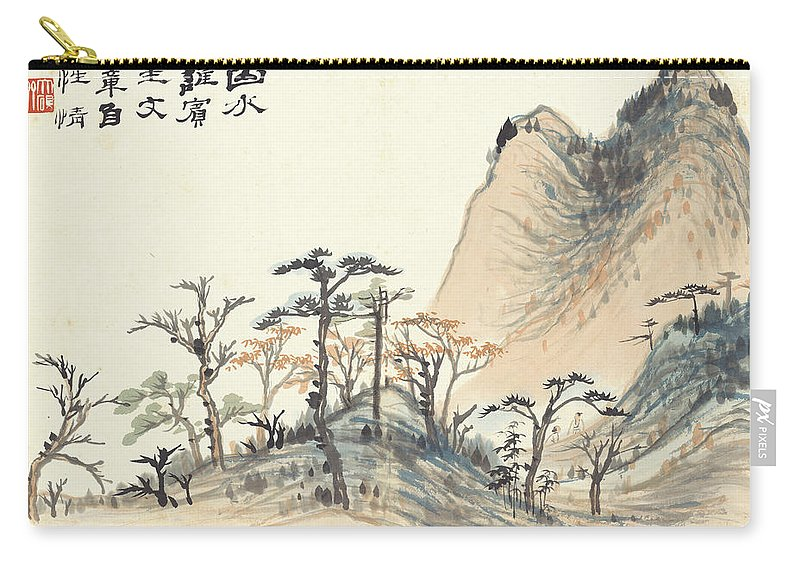 Landscape Album Carry-all Pouch featuring the painting Landscape Album by Zhang Daqian