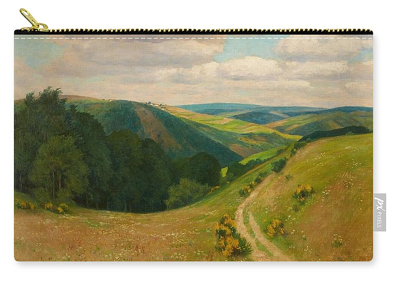 Fritz Von Wille Carry-all Pouch featuring the painting Landscape Near Schleiden In The Eifel by Wille