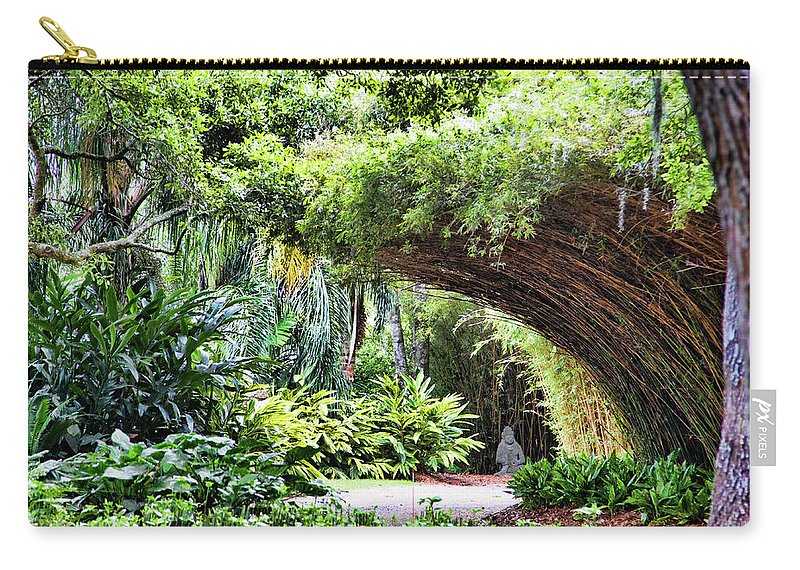 Landscape Carry-all Pouch featuring the photograph Landscape Rip Van Winkle Gardens Louisiana by Chuck Kuhn