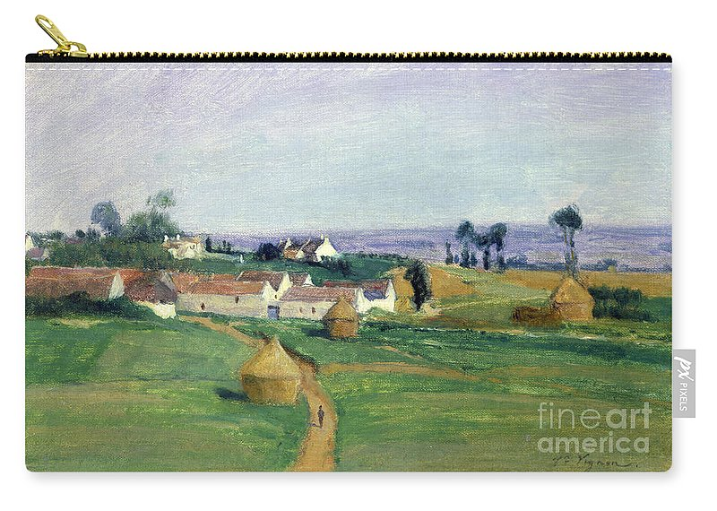 Landscape Carry-all Pouch featuring the painting Landscape by Victor Vignon