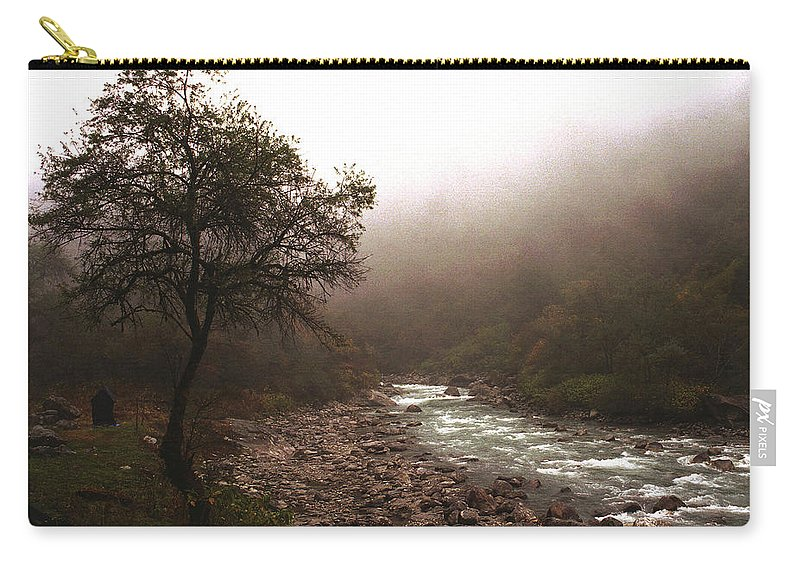 Tree Carry-all Pouch featuring the photograph Langtang Morning by Patrick Klauss