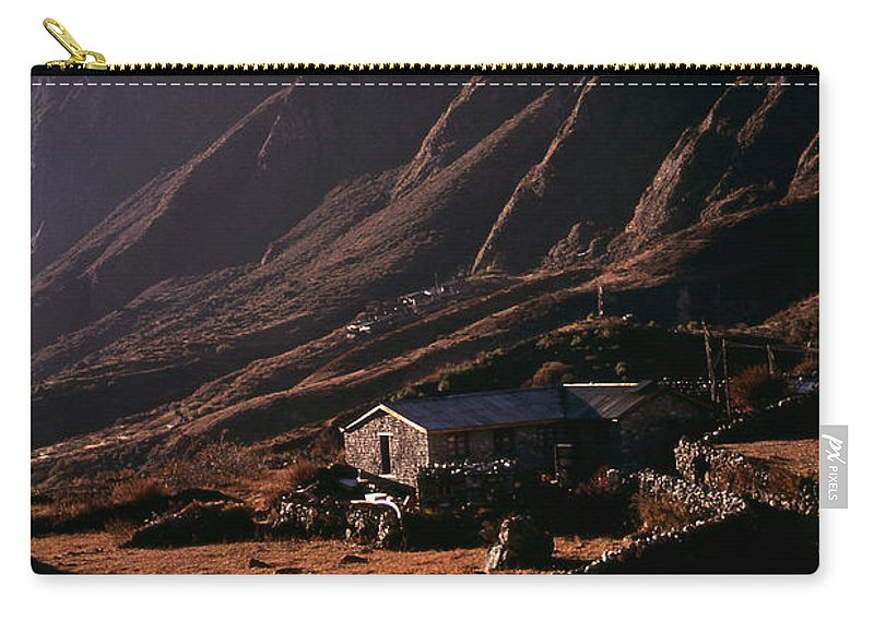 Langtang Carry-all Pouch featuring the photograph Langtang Village by Patrick Klauss