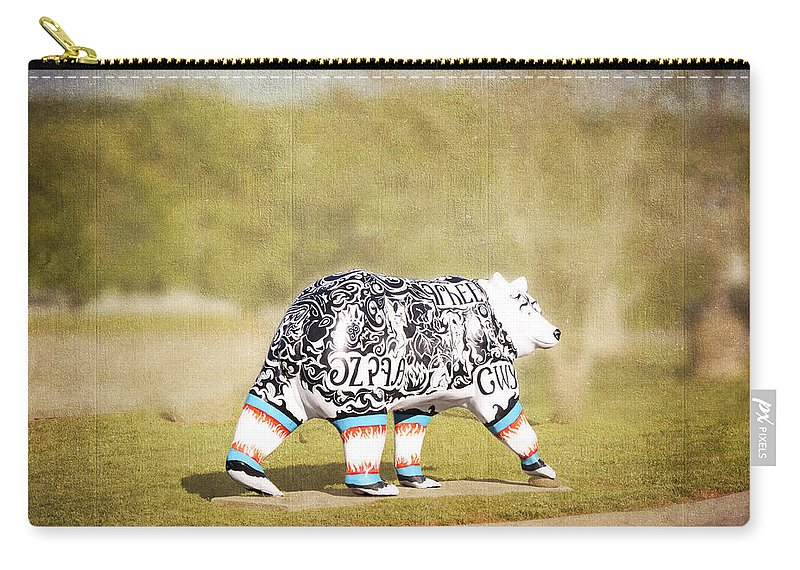 Language Bear Carry-all Pouch featuring the photograph Language Bear by Cynthia Woods