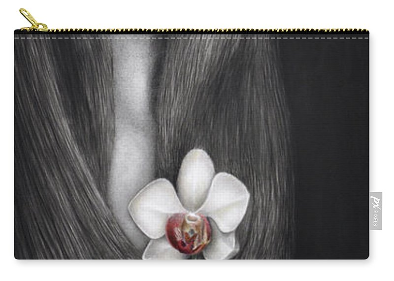 Woman Carry-all Pouch featuring the painting Language Of The Heart by Pat Erickson