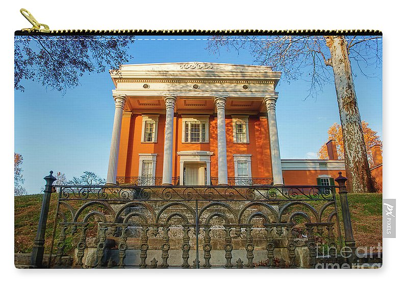 Madison Indiana Carry-all Pouch featuring the photograph Lanier Mansion by David Arment